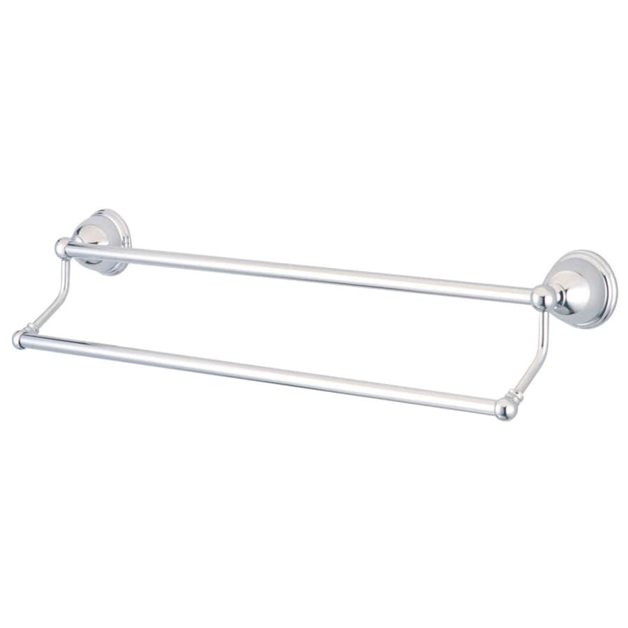 Kingston Brass Restoration Polished Chrome Double Towel Bar (Common: 24-in; Actual: 24-in)