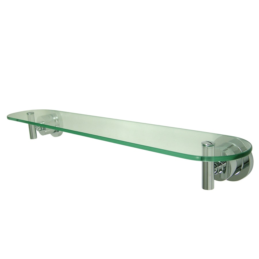 Kingston Brass Concord Polished Chrome Glass and Solid Brass Bathroom Shelf