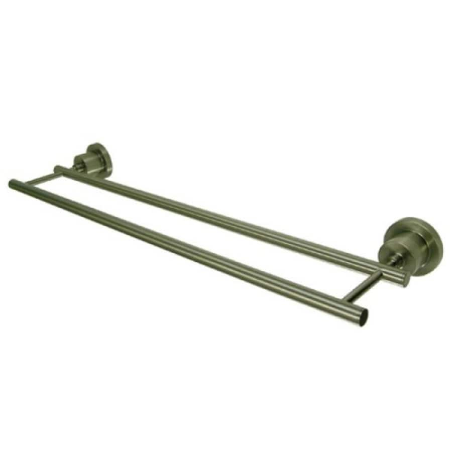 Kingston Brass Concord Satin Nickel Double Towel Bar (Common: 24-in; Actual: 24-in)