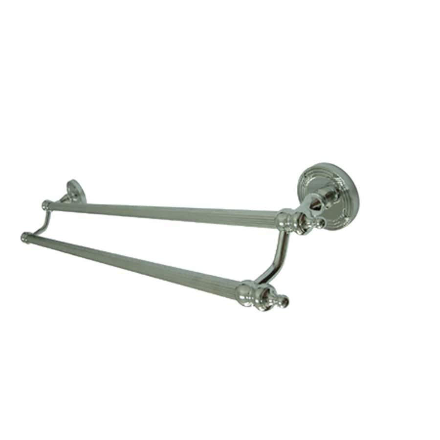 Kingston Brass Templeton Polished Chrome Double Towel Bar (Common: 24-in; Actual: 24-in)