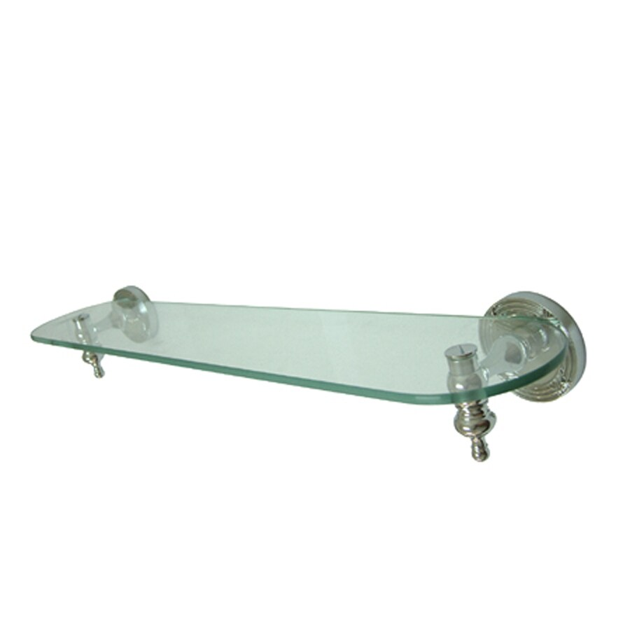 Kingston Brass Templeton Polished Chrome Glass and Solid Brass Bathroom Shelf