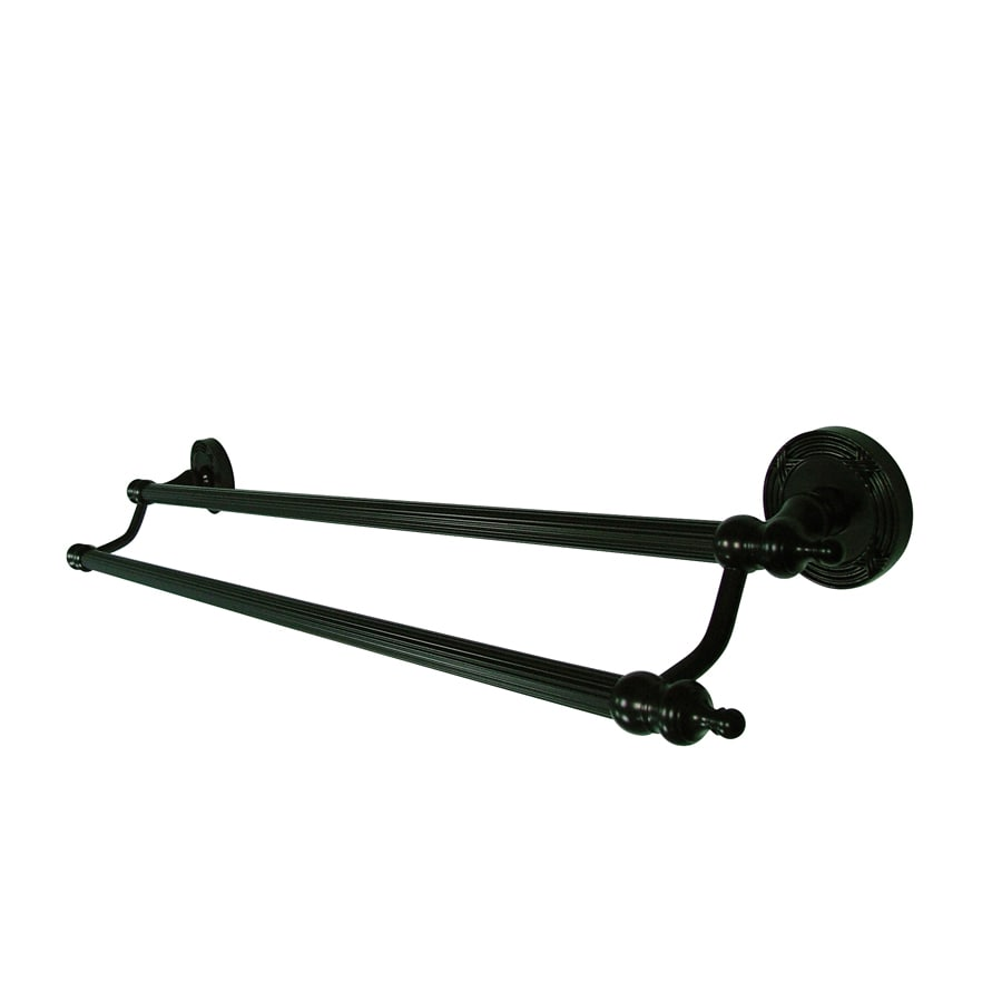 Kingston Brass Templeton Oil-Rubbed Bronze Double Towel Bar (Common: 24-in; Actual: 24-in)