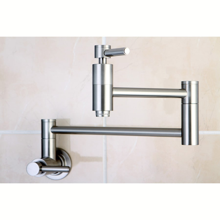Kingston Brass Concord Satin Nickel 2 Handle Wall Mount Pot Filler