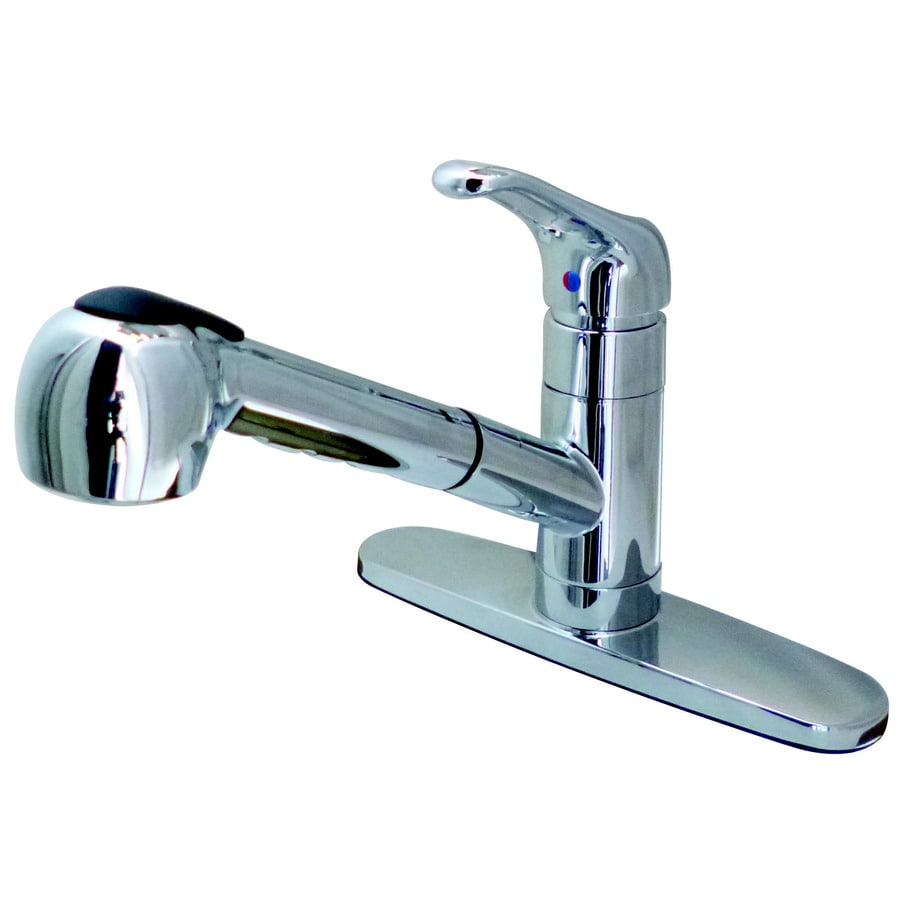 Solid Brass Pull Out Kitchen Faucet Chrome Finish