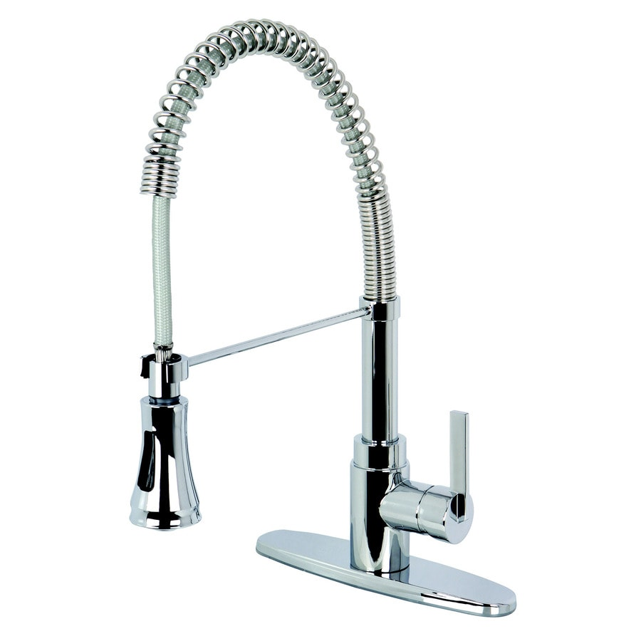 Kingston Brass Continental Chrome 1 Handle Deck Mount Pre Rinse Kitchen  Faucet