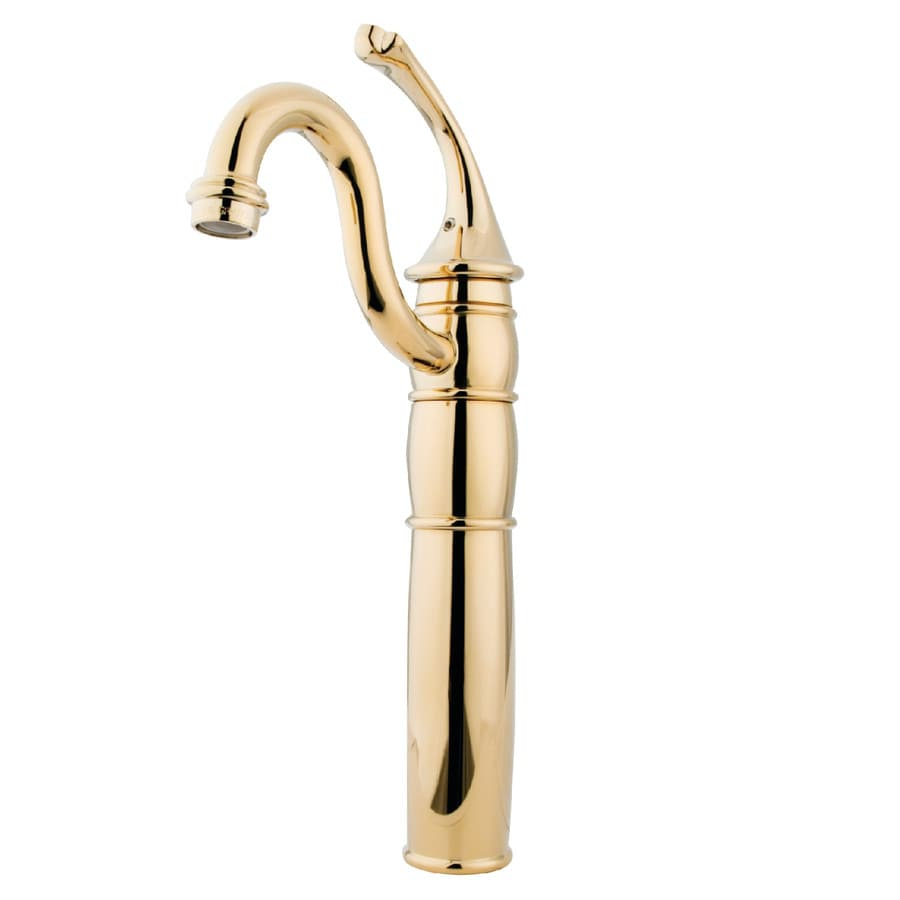 Kingston Brass Georgian Polished Brass 1-Handle Single Hole Bathroom Sink Faucet
