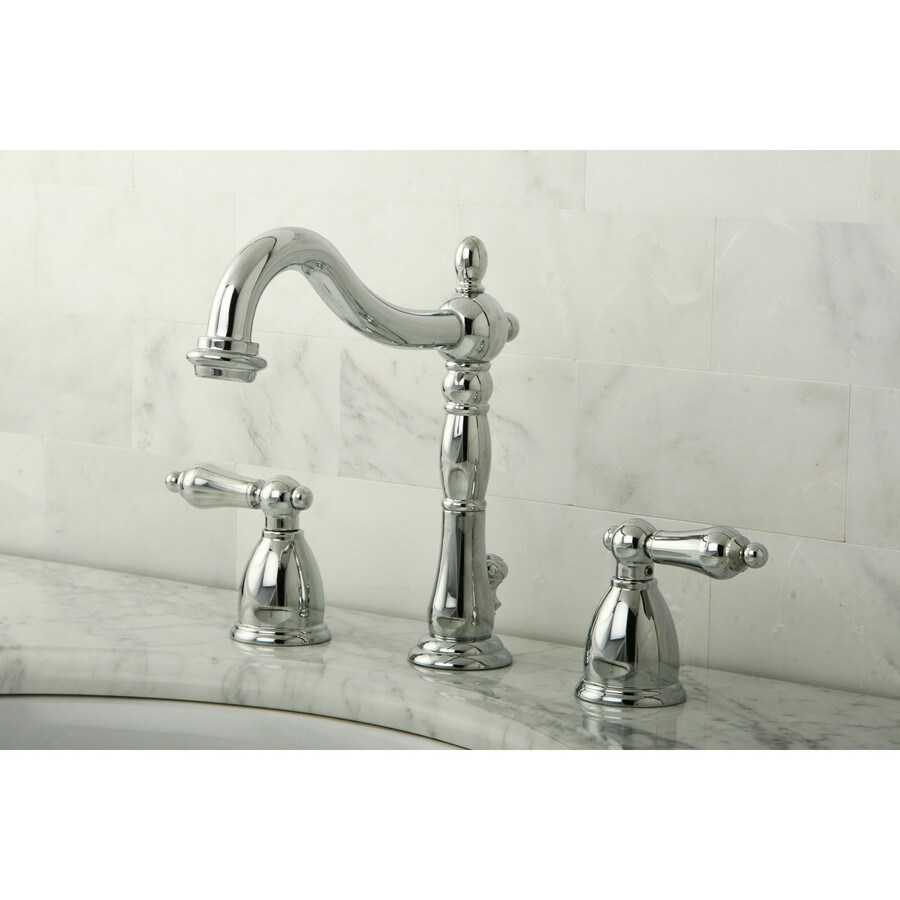 Brass Bathroom Faucets Widespread : Kingston Brass Heritage Chrome 2-Handle Widespread Bathroom Faucet ...