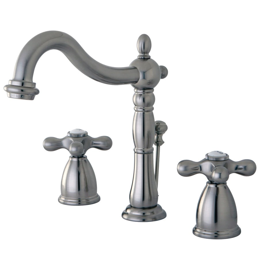 Kingston Brass Heritage Satin Nickel 2-Handle Widespread Bathroom Sink Faucet