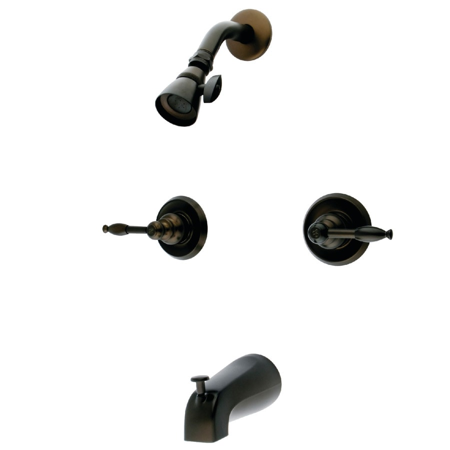 Shop Kingston Brass Magellan Oil-Rubbed Bronze 2-Handle Bathtub and ...