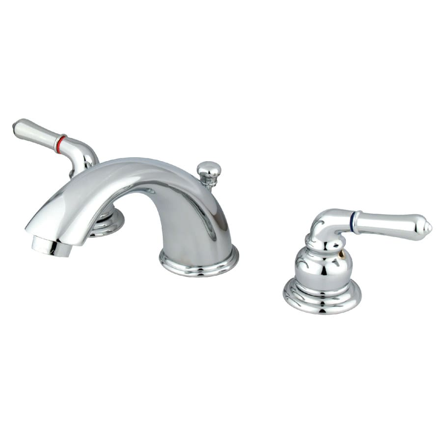 Kingston Brass Magellan Chrome 2-Handle Widespread Bathroom Faucet (Drain Included)