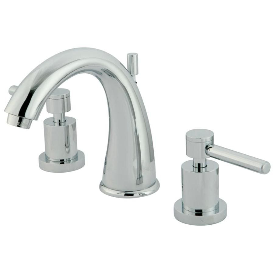 Kingston Brass Concord Chrome 2-Handle Widespread Bathroom Faucet (Drain Included)