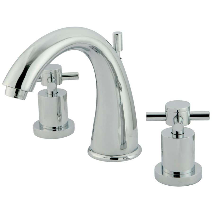 Shop Kingston Brass Concord Chrome 2 Handle Widespread Bathroom Sink Faucet At
