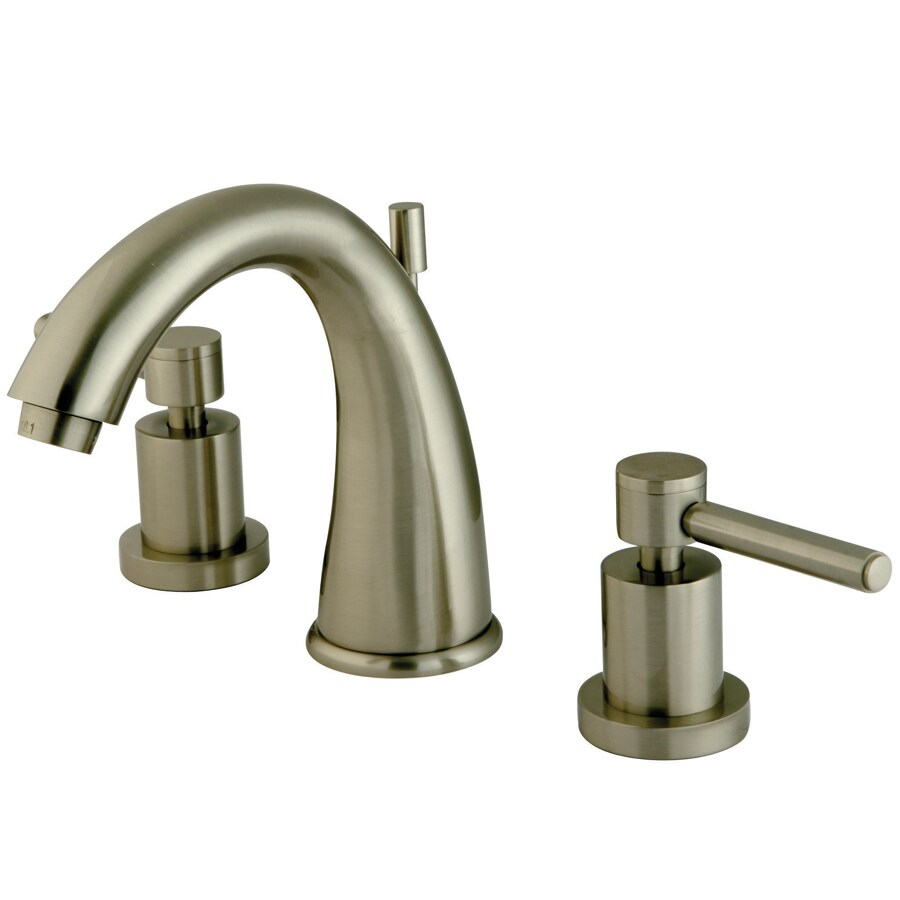 Brass Bathroom Faucets Widespread : Brass Concord Satin Nickel 2-Handle Widespread Bathroom Faucet ...