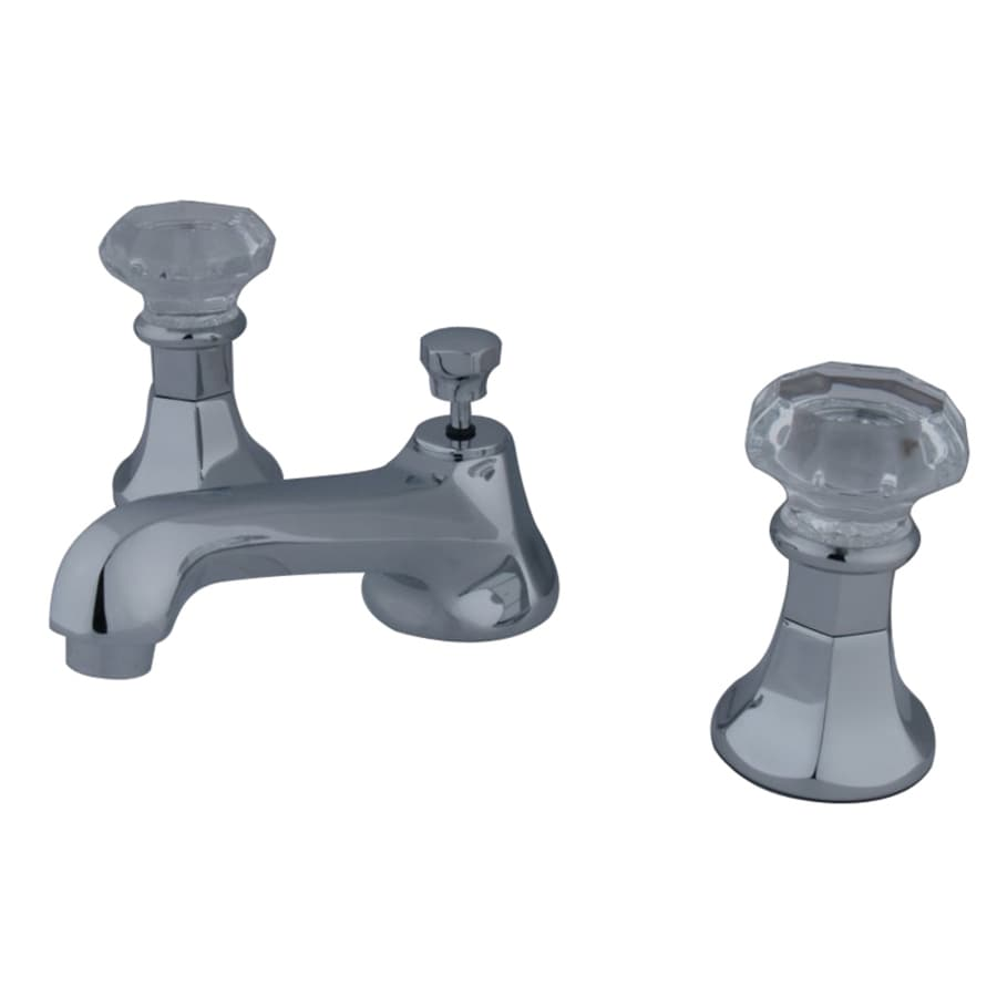 Kingston Brass Celebrity Chrome 2-Handle Widespread Bathroom Faucet (Drain Included)
