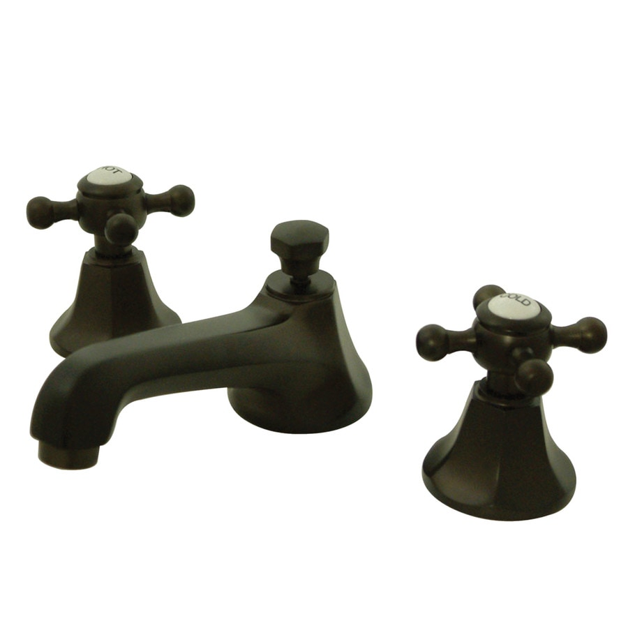 Kingston Br Georgian Oil Rubbed Bronze 2 Handle Widespread Bathroom Sink Faucet