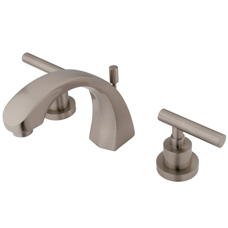 Kingston Brass Manhattan Satin Nickel 2-Handle Widespread Bathroom Sink Faucet