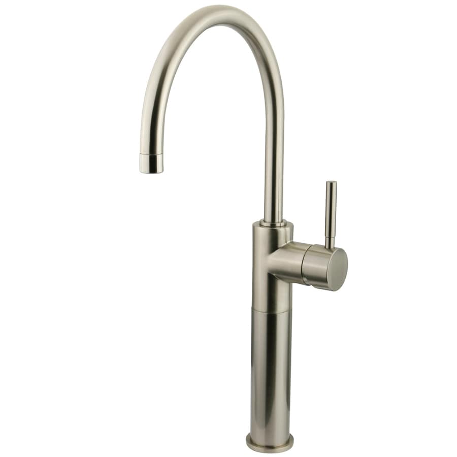 Shop Kingston Brass Concord Satin Nickel 1 Handle Single Hole Bathroom Sink Faucet At