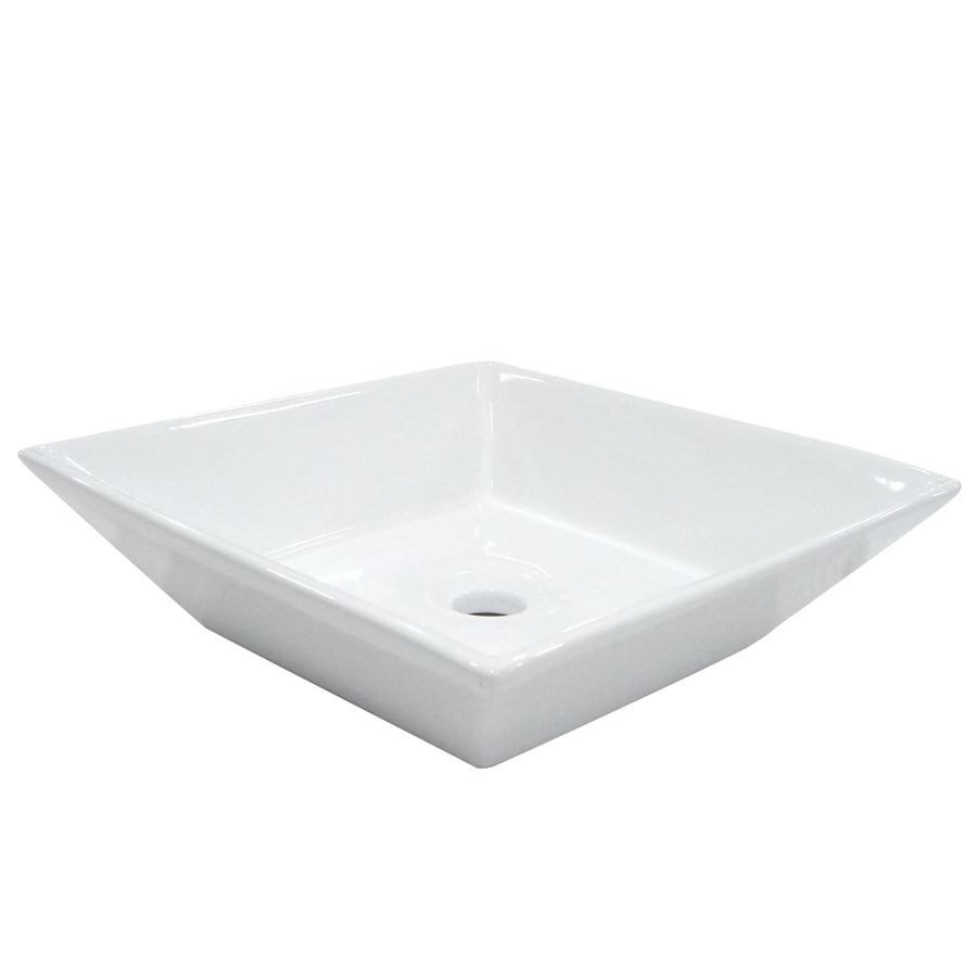 Kingston Brass Parisan White Vessel Bathroom Sink