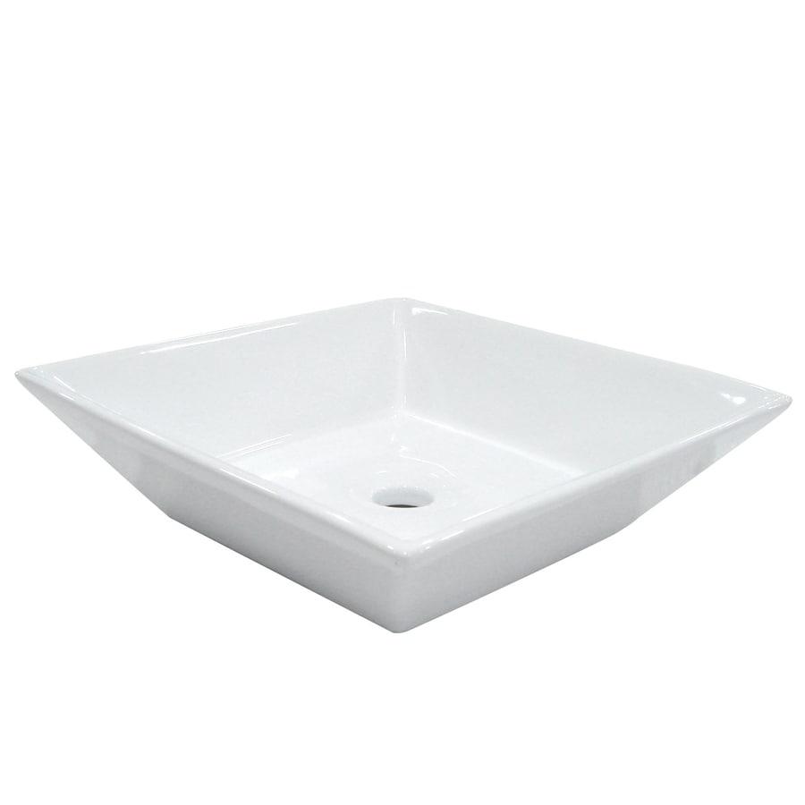 Kingston Brass Parisan White Vessel Bathroom Sink