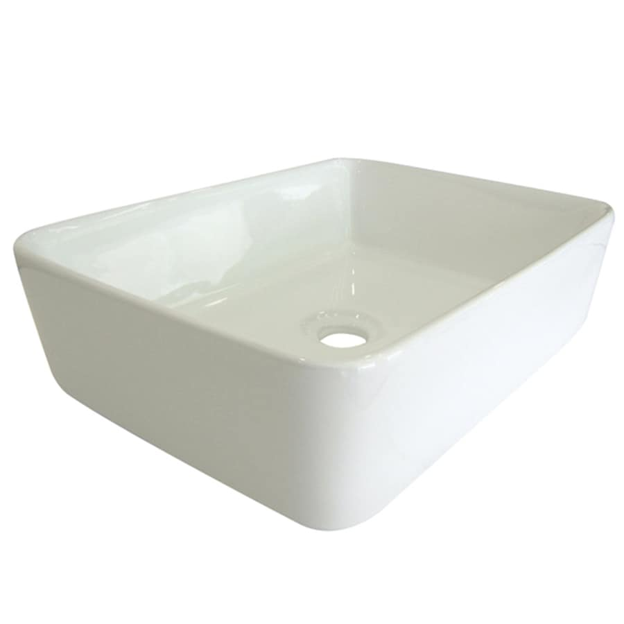 Kingston Brass French White Vessel Bathroom Sink