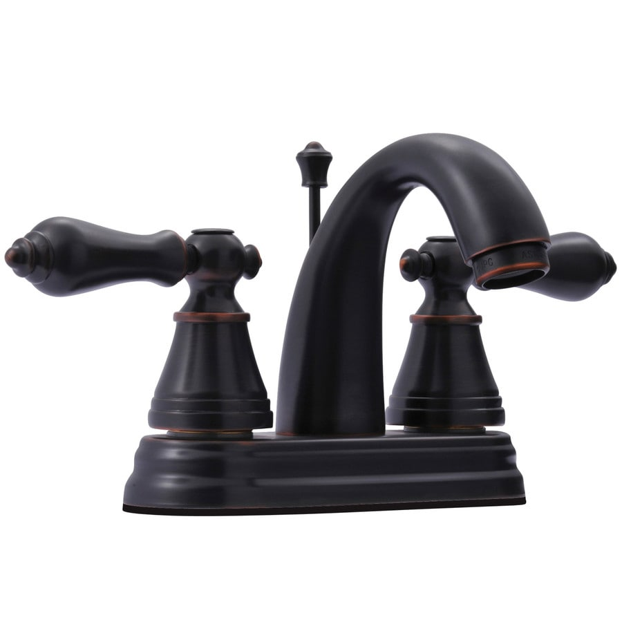 Kingston Brass English Classic Oil-Rubbed Bronze 2-Handle 4-in Centerset Bathroom Faucet (Drain Included)