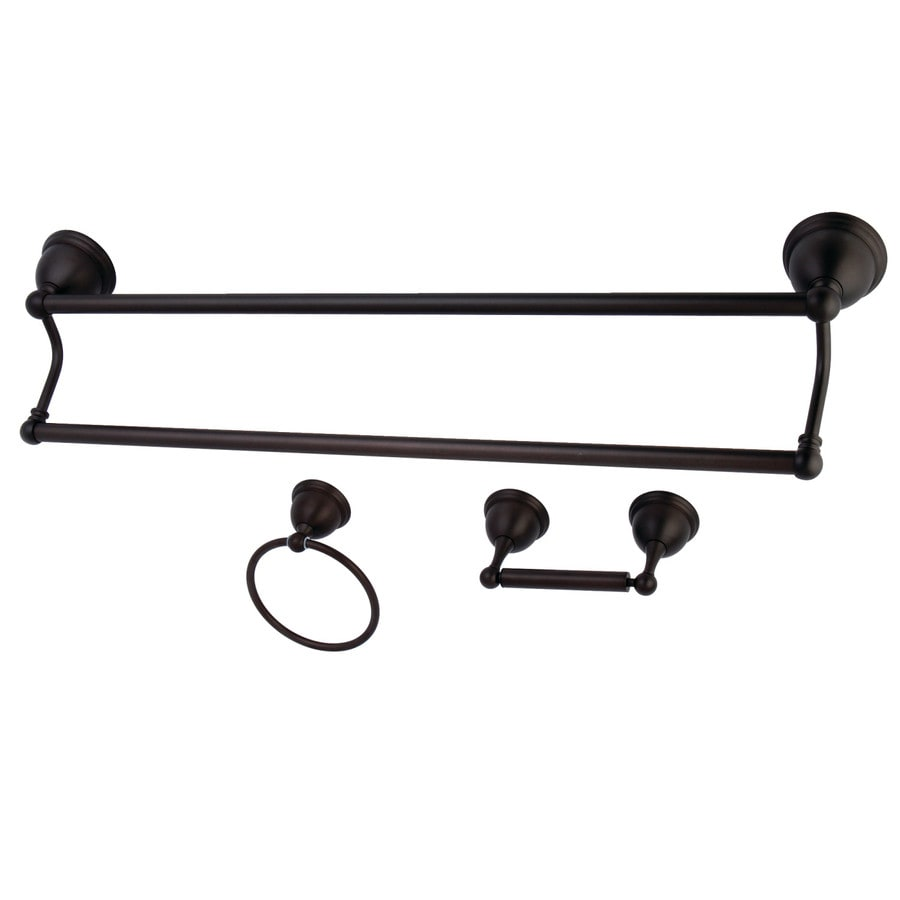 Kingston Brass 3-Piece Restoration Oil-Rubbed Bronze Decorative Bathroom Hardware Set