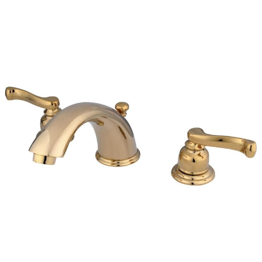 Kingston Brass Royale Polished Brass 2-Handle Widespread Bathroom Faucet (Drain Included)