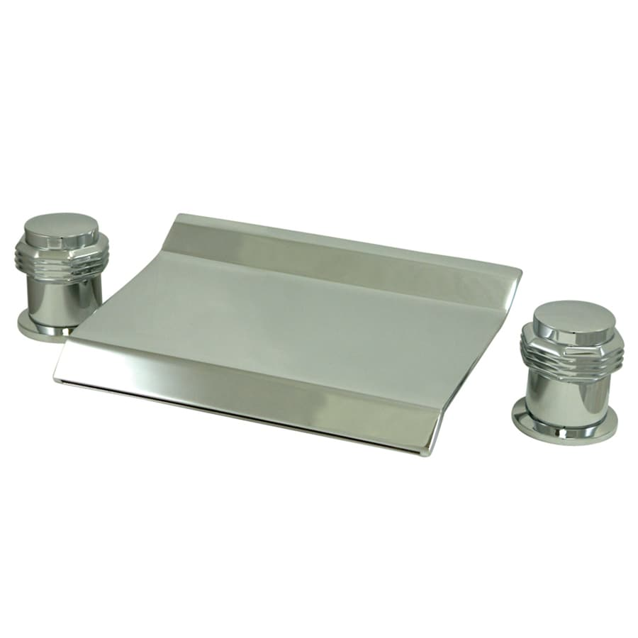 Kingston Brass Milano Chrome 2-Handle Adjustable Deck Mount Bathtub Faucet