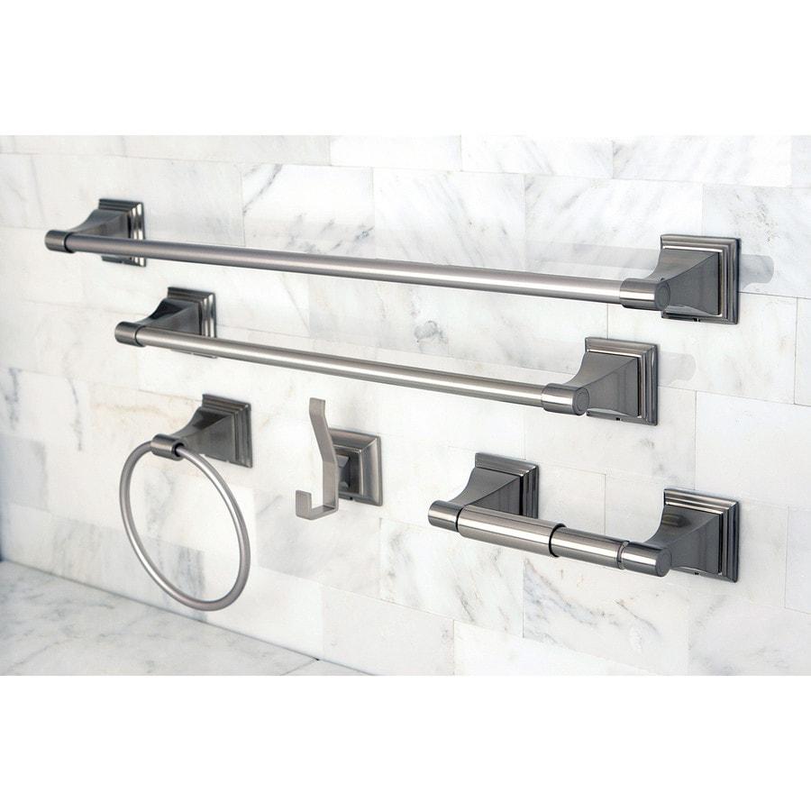 Kingston Brass 5 Piece Classic Satin Nickel Decorative Bathroom Hardware Set