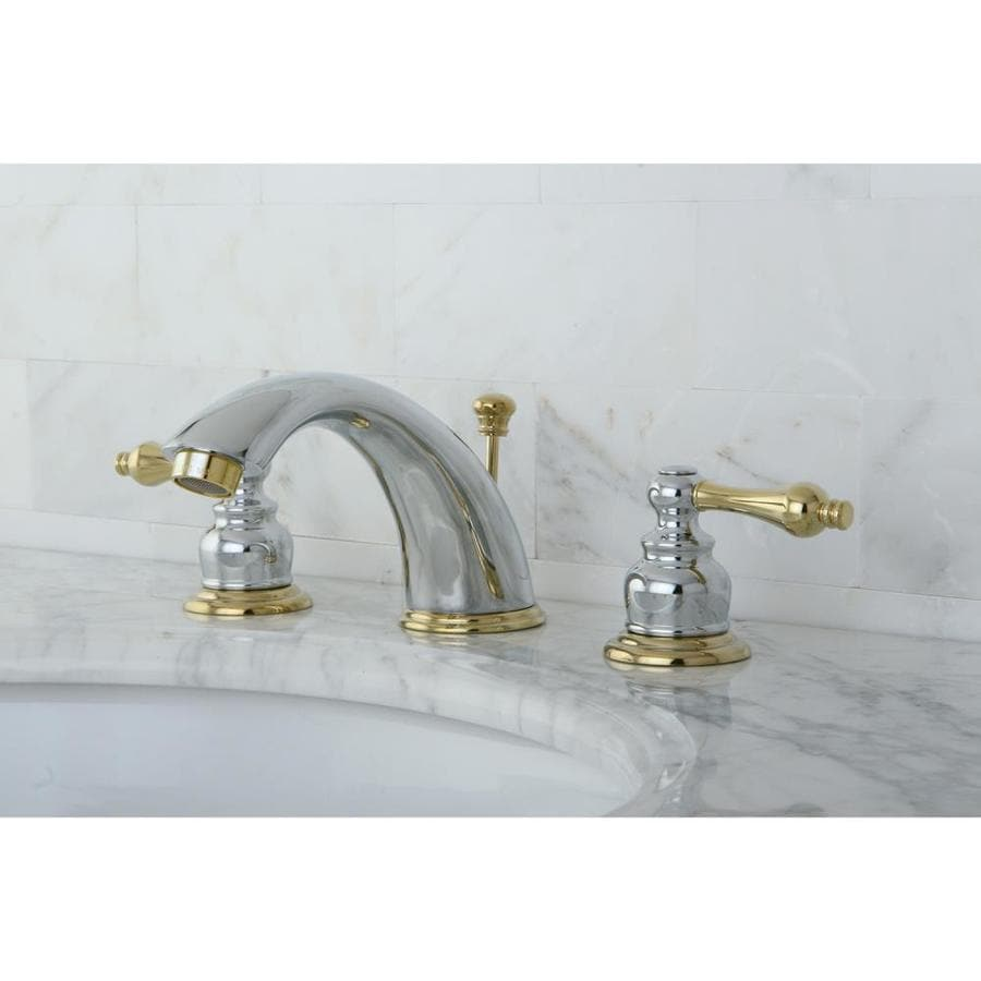 Shop Kingston Brass Vintage Polished Brass 2-Handle Widespread ...
