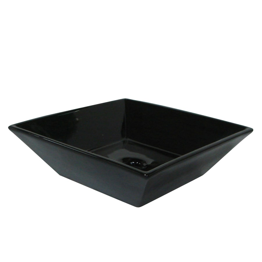 Shop kingston brass parisan black vessel bathroom sink at for Black vessel bathroom sink