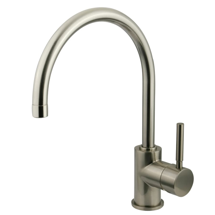 Brass Single Hole Bathroom Faucet : ... Brass Concord Satin Nickel 1-Handle Single Hole Bathroom Faucet at