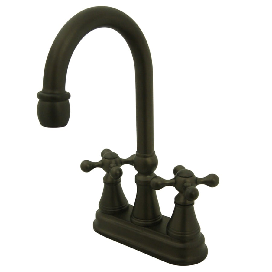 Kingston Brass Governor Oil-Rubbed Bronze 2-Handle-Handle Bar and Prep Faucet