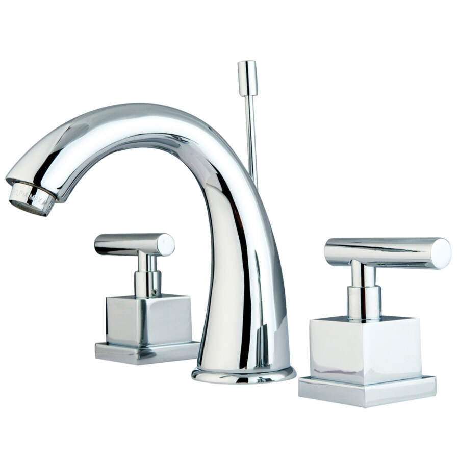 Kingston Brass Claremont Chrome 2-Handle Widespread Bathroom Faucet (Drain Included)