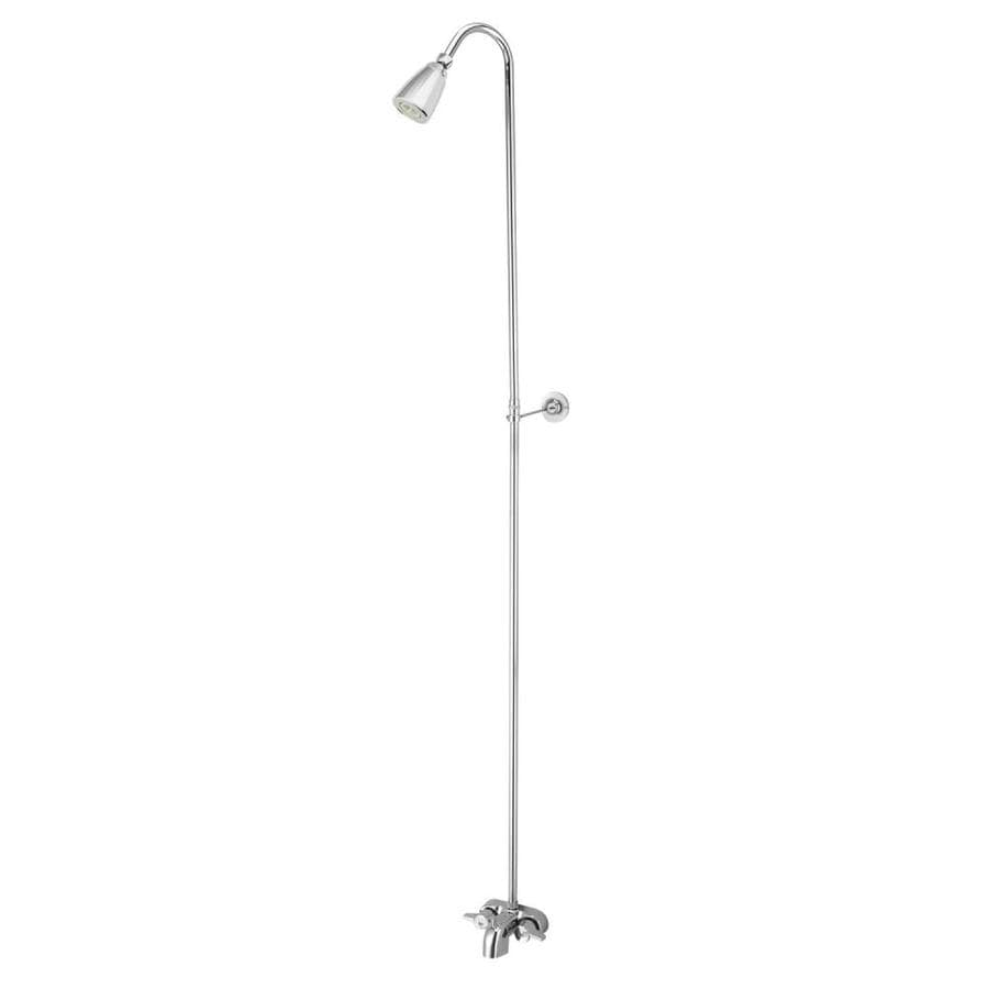 Kingston Brass Vintage Chrome 2-Handle Tub and Shower with Single Function Showerhead