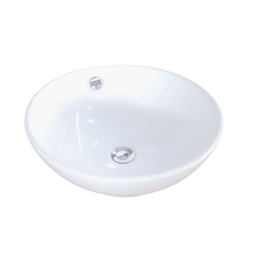 Kingston Brass Perfection White Vessel Bathroom Sink