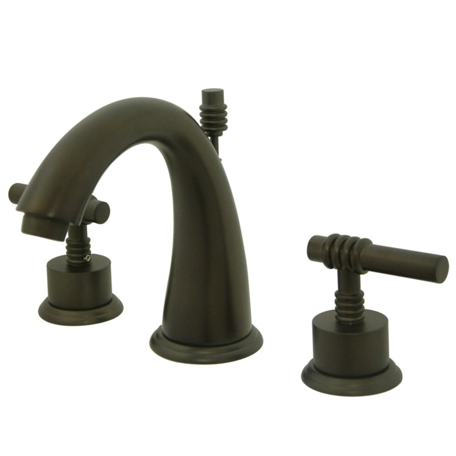 Kingston Brass Milano Oil-Rubbed Bronze 2-Handle Widespread Bathroom Faucet (Drain Included)
