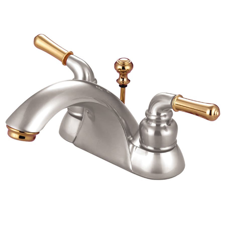 Kingston Brass Concord Satin Nickel Polished Brass 2 Handle 4 In Centerset Watersense Bathroom