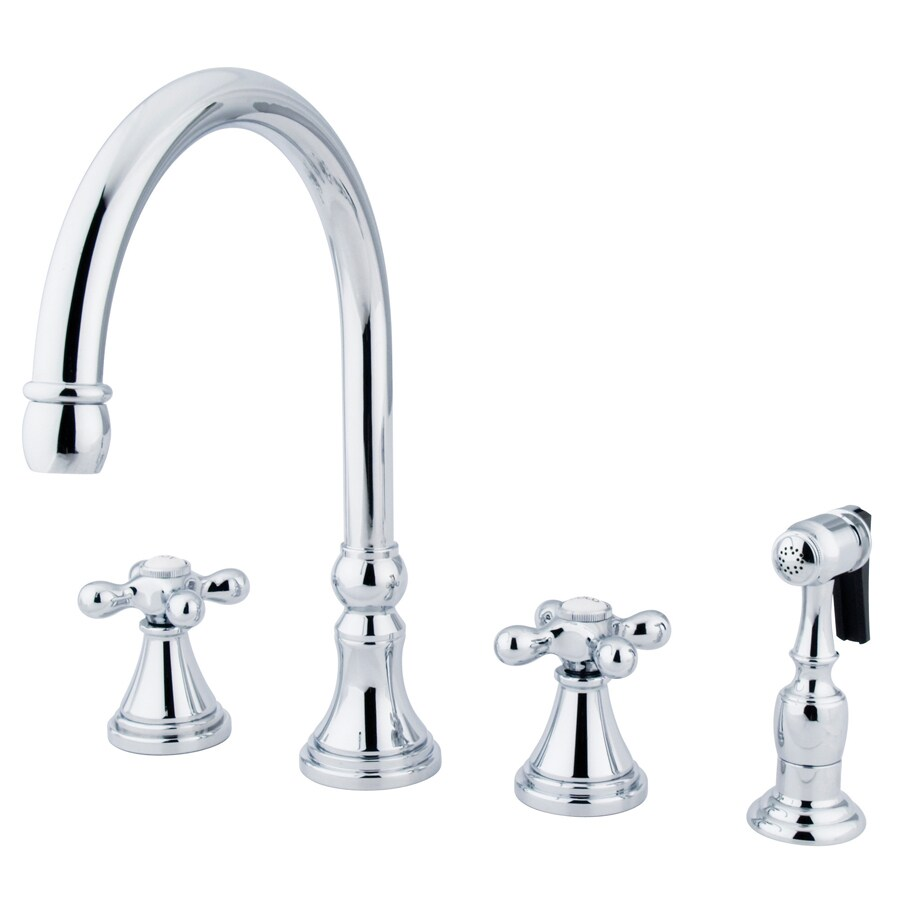 Kingston Brass Governor Chrome 2-Handle High-Arc Kitchen Faucet