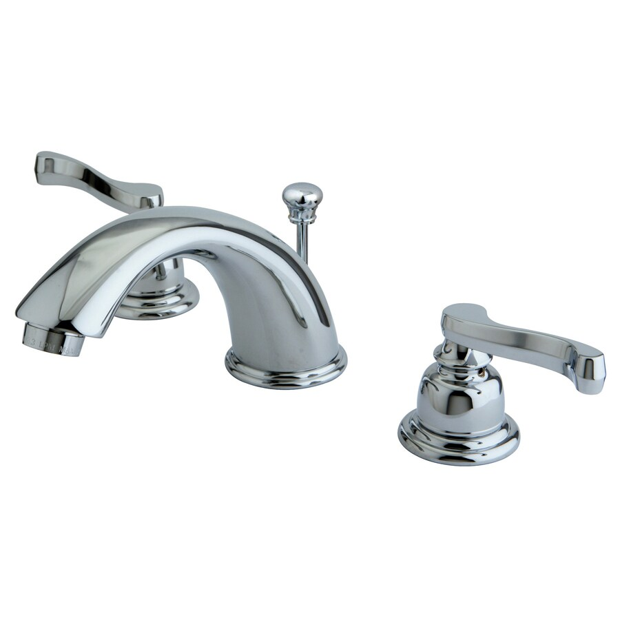Shop Kingston Brass Royale Chrome 2 Handle Widespread Bathroom Sink Faucet At