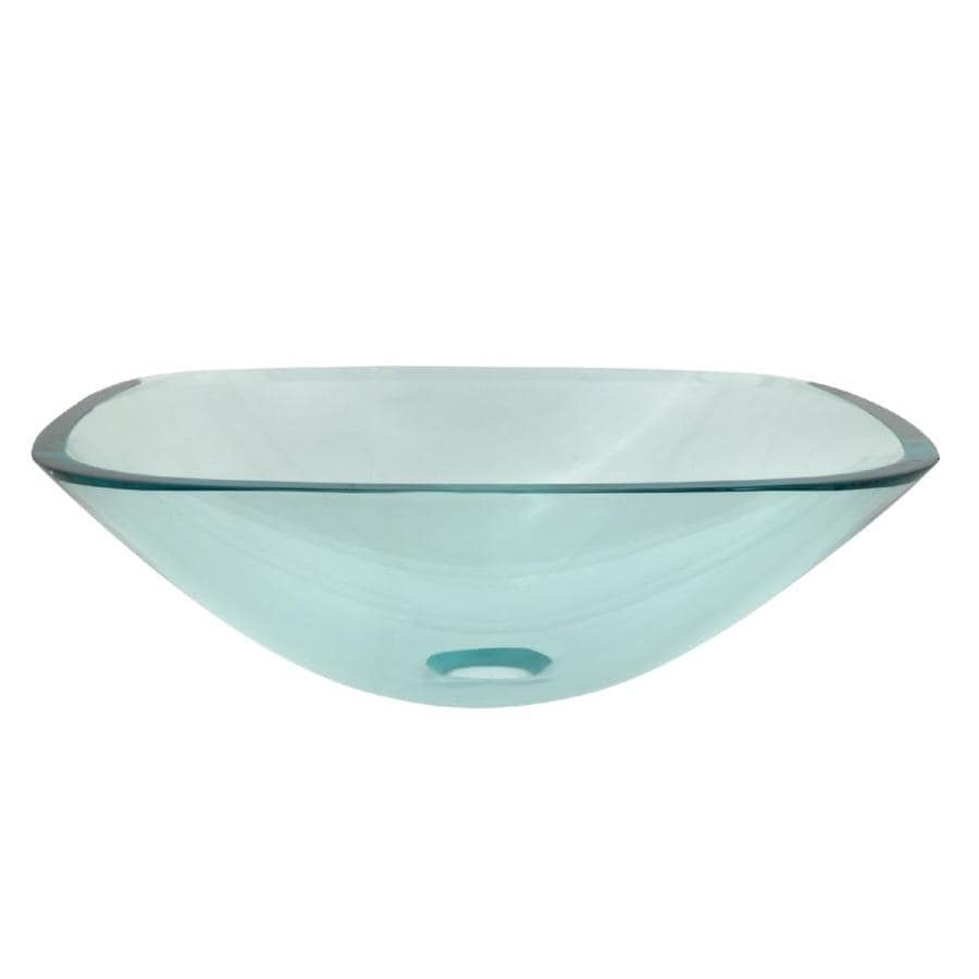 Kingston Brass Templeton Crystal Clear Glass Vessel Bathroom Sink