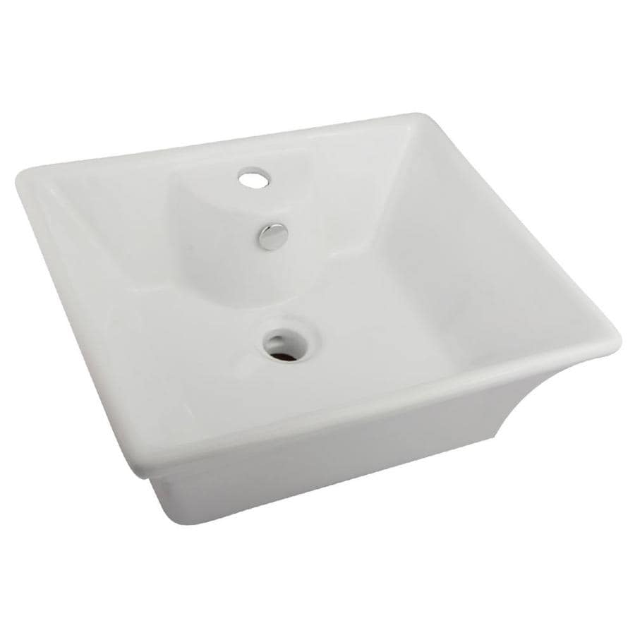 Kingston Brass Forte White Vessel Bathroom Sink