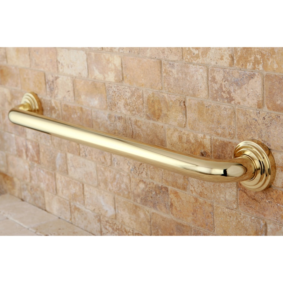 Kingston Brass Milano 24-in Polished Brass Wall Mount Grab Bar
