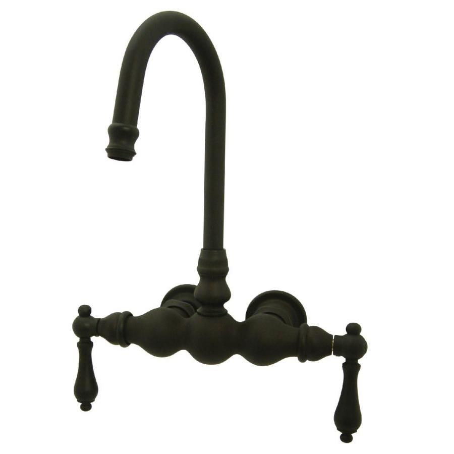 Kingston Brass Vintage Oil-Rubbed Bronze 2-Handle Fixed Wall Mount Bathtub Faucet