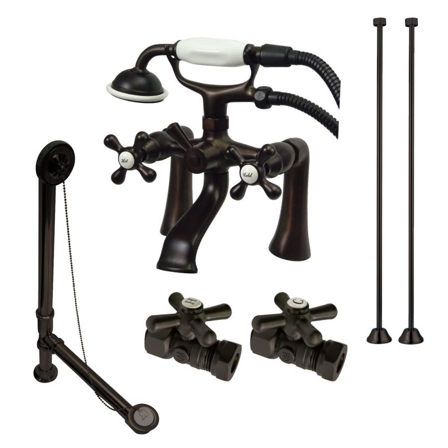Shop Kingston Brass Clawfoot Oil-Rubbed Bronze 3-Handle Fixed Deck ...