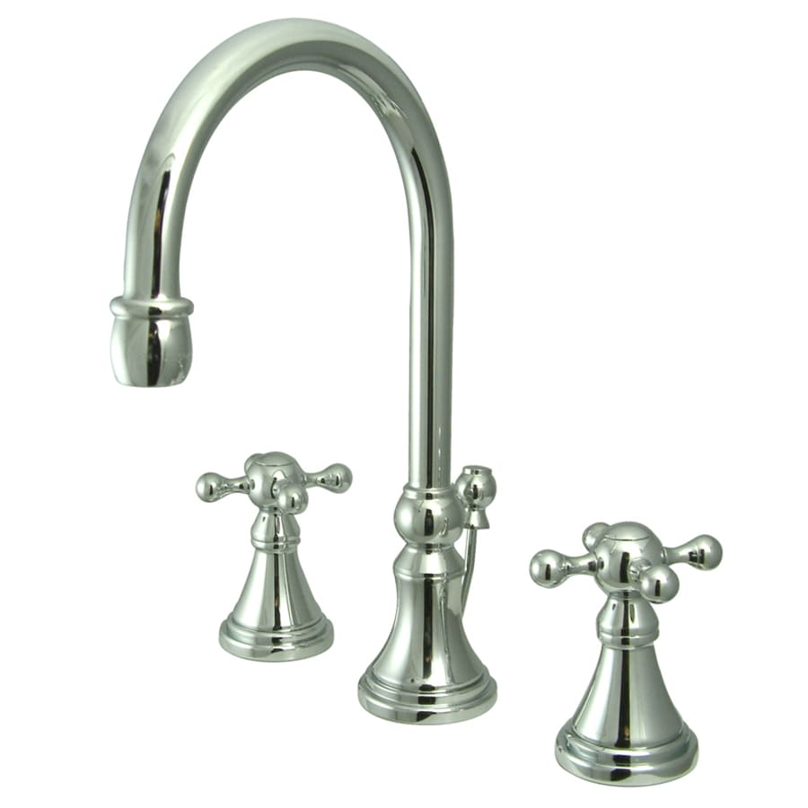 Kingston Brass Governor Chrome 2-Handle Widespread Bathroom Faucet (Drain Included)