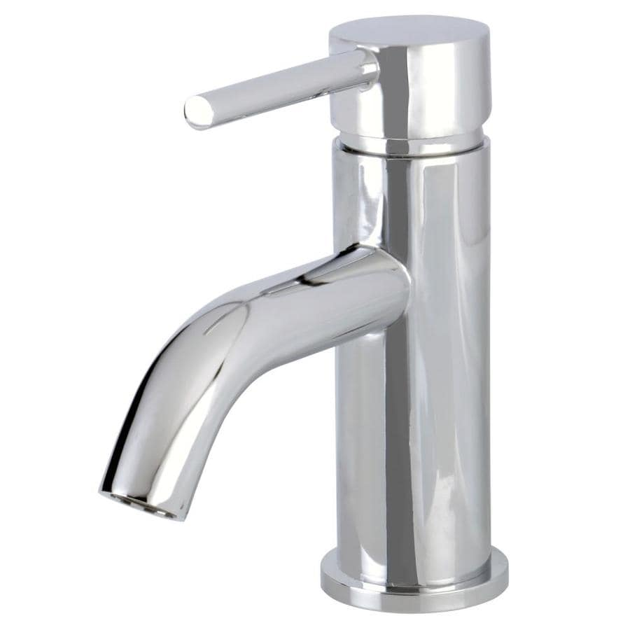 Shop Kingston Brass Georgian Polished Chrome 1 Handle Single Hole Bathroom Sink Faucet At