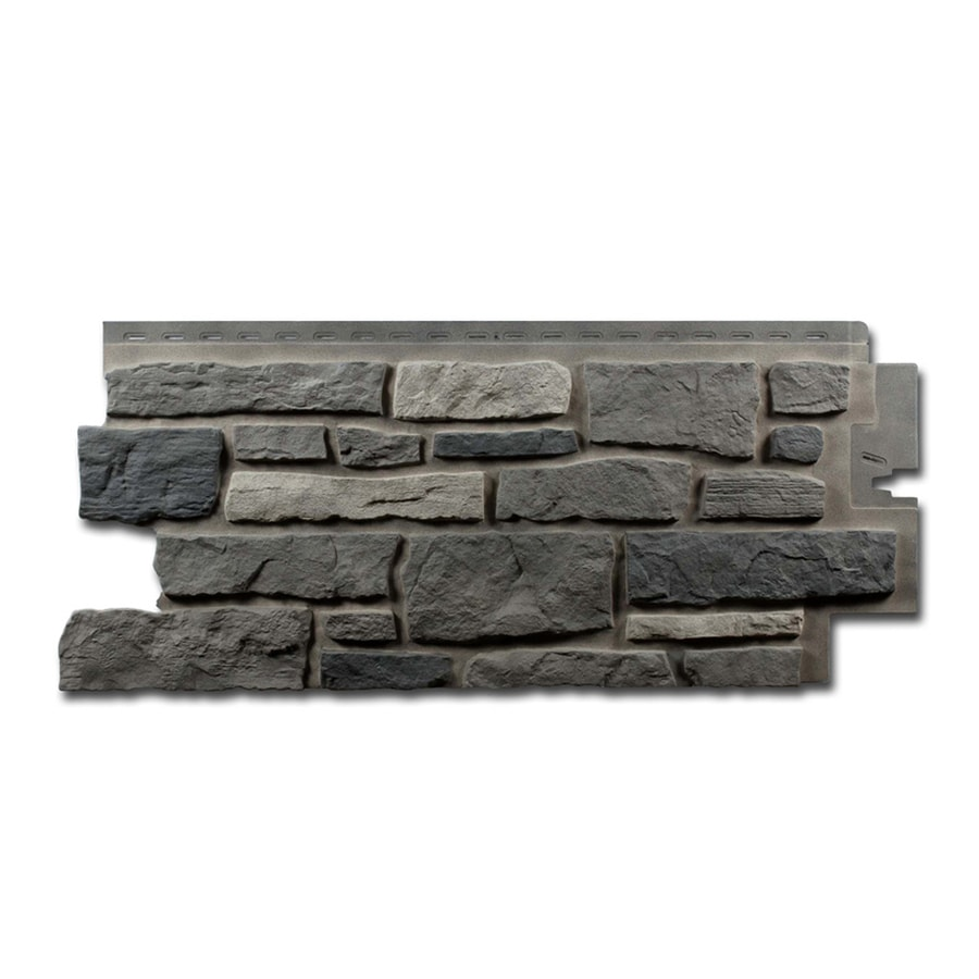 Exteria Building Products Creek Ledgestone Premium Appalachian Ash Faux Stone Veneer