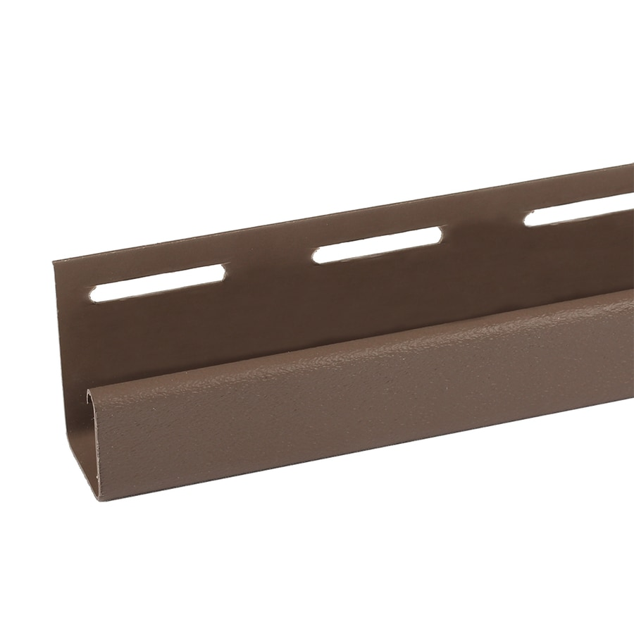 Exteria Building Products 2-Pack 4-in x 75-in Dark Brown J-Channel Stone Veneer Trim