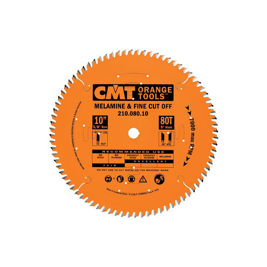 CMT 10-in 96-Tooth Continuous Carbide Circular Saw Blade